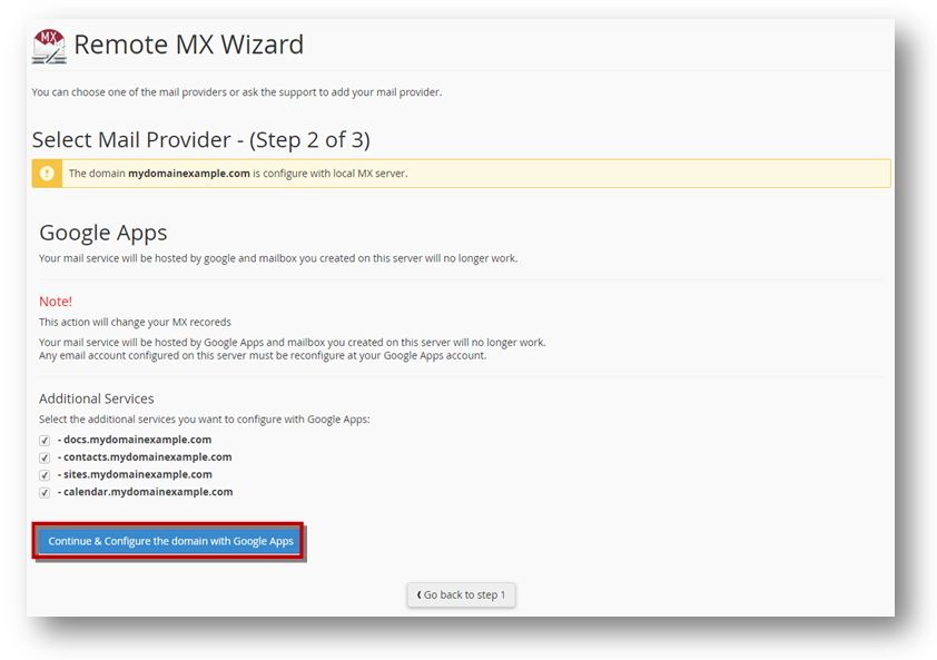 Remote MX Wizard google for work