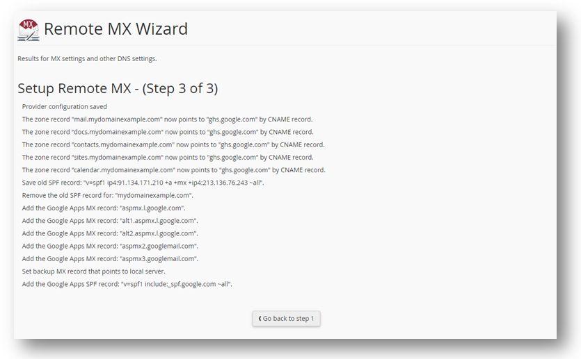 Setup Remote MX pagina Google Apps