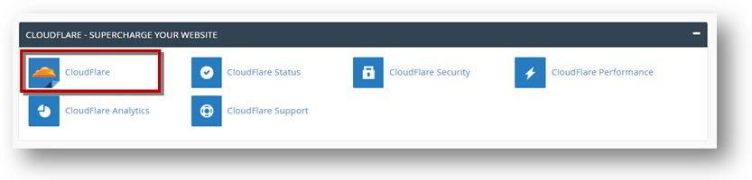 cPanel Cloudflare