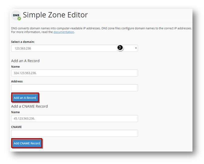 manage DNS Simple Zone Editor