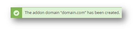 addon domain creation