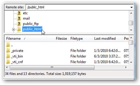 WordPress directory