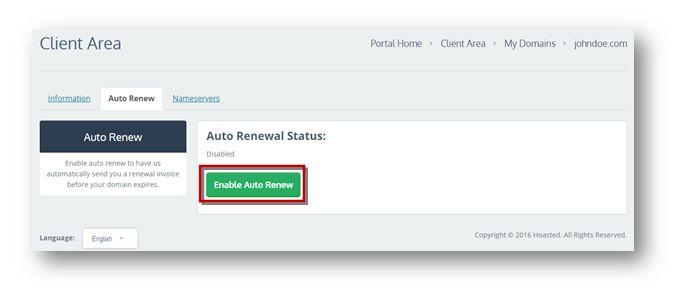 auto renewal status