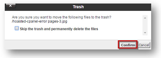 delete file confirmation