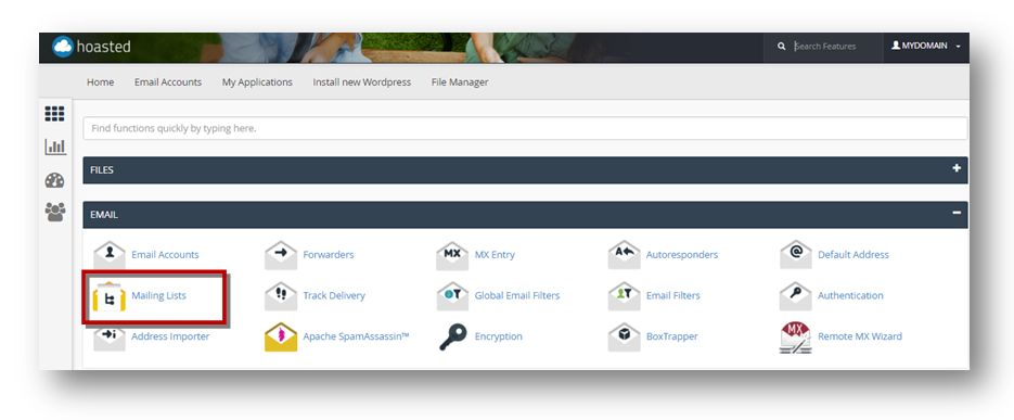 mailing lists cpanel