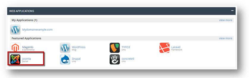 web applicaties cPanel