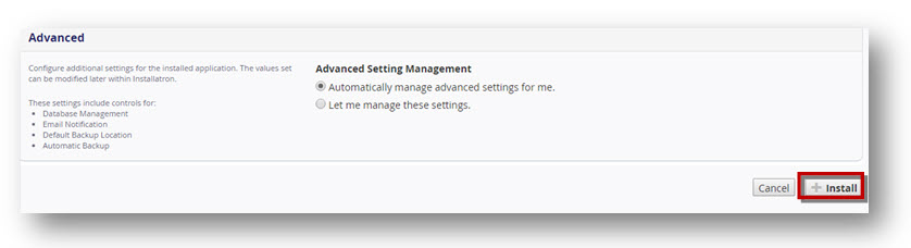Joomla admin settings